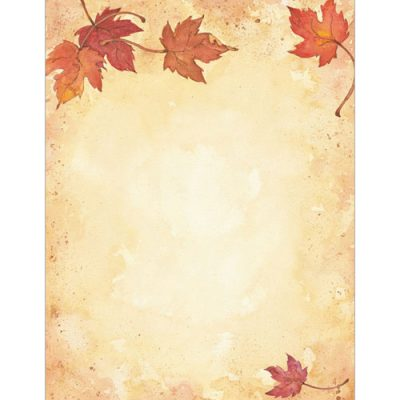 Fall Leaves Autumn and Thanksgiving Printer Paper