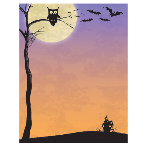 Halloween Computer Printer Papers
