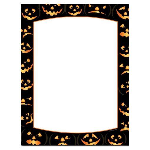 Pumpkin Faces Halloween Paper
