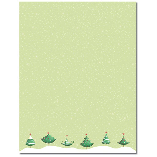 Six Christmas Trees Holiday Printer Paper