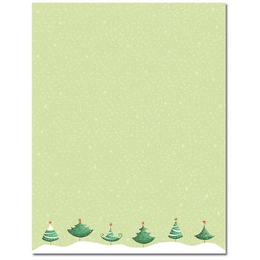 Six Christmas Trees Holiday Printer Paper