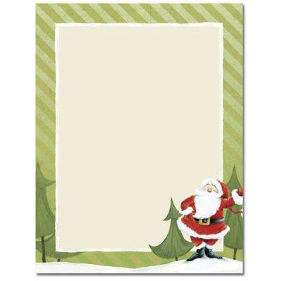 Jolly Santa Claus Christmas Paper