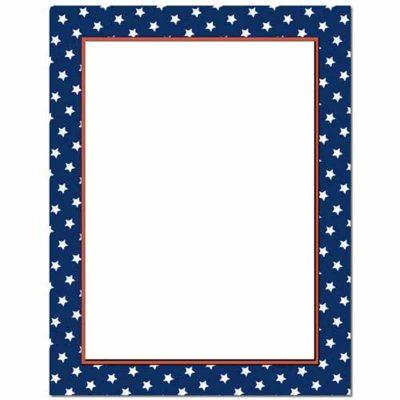 American Stars Patriotic Paper