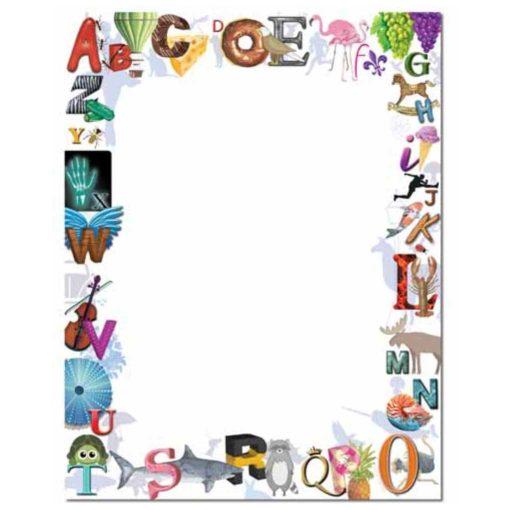 Colorful Alphabet Border Paper