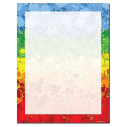 Colorful Paint Drops Letterhead Paper