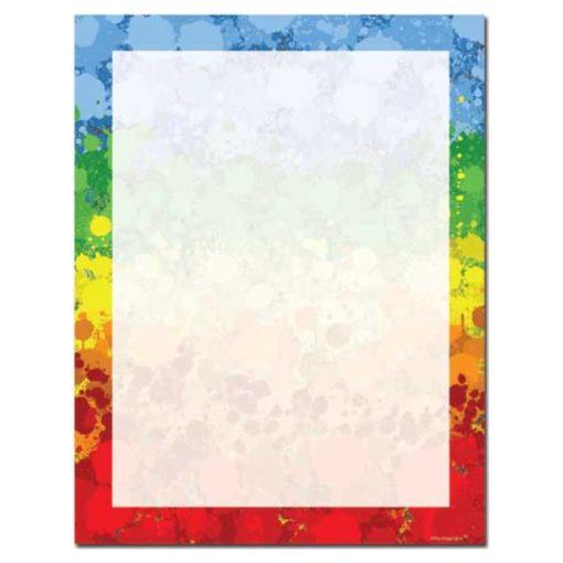 Colorful Paint Drops Letterhead Paper