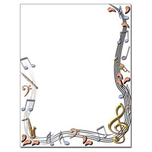 Classical Music Notes Printer Paper