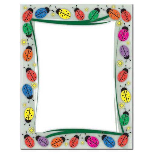 Colorful Ladybugs Letterhead Paper