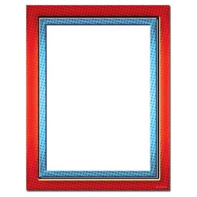 Red & Blue Border Letterhead Paper