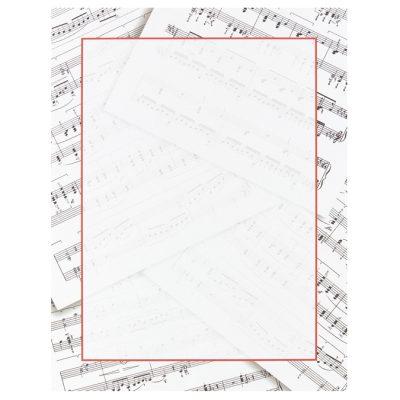 Sheet Music Border Paper