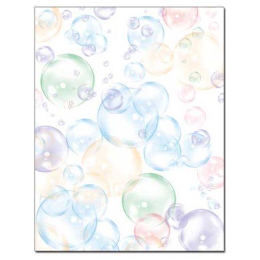 Floating Bubbles Letterhead Paper