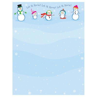 Let It Snowmen Christmas Holiday Printer Paper