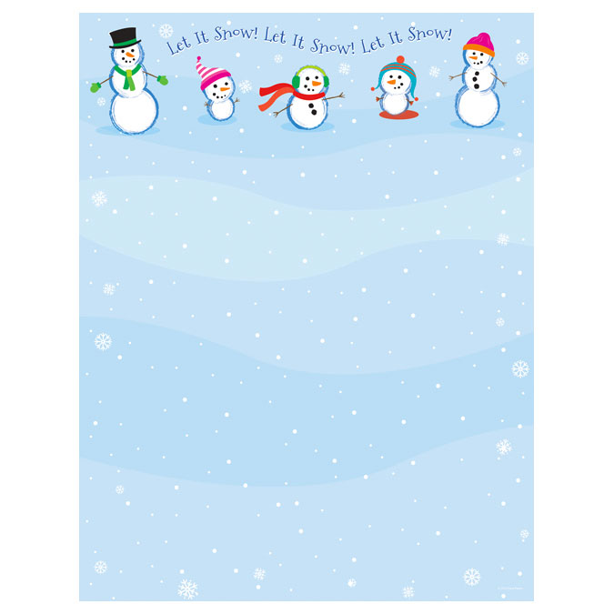 Let It Snowmen Christmas Holiday Printer Paper