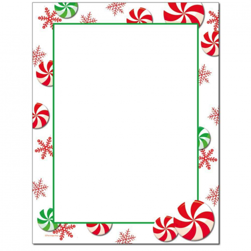 peppermints christmas holiday paper