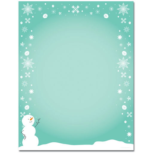 Silly Snowman Christmas Holiday Printer Paper
