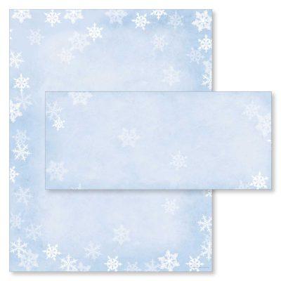 Winter Snow Flakes Christmas Holiday Printer Paper & Envelopes
