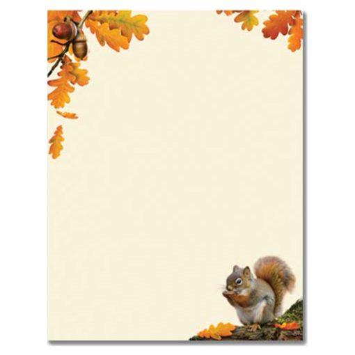 Squirrel Holding Acorn Printer Paper
