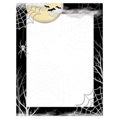 Creepy Spider Web Halloween Paper