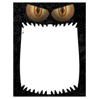 Monster Mouth Halloween Paper