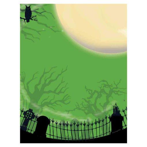 Spooky Graveyard Halloween Paper