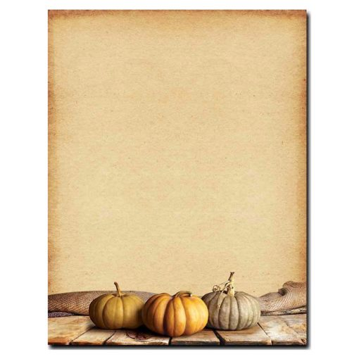 Fall Pumpkins Autumn Thanksgiving Printer Paper