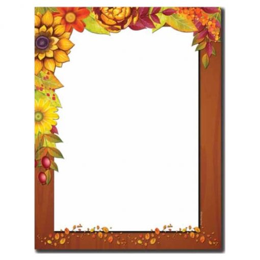 Harvest Garland Fall & Autumn Thanksgiving Printer Paper