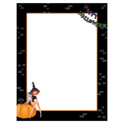 Party Witch Halloween Paper