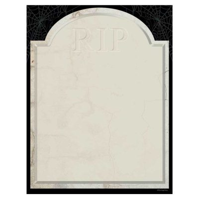 RIP Tombstone Halloween Paper