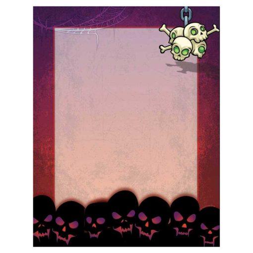 Scary Skulls Halloween Paper