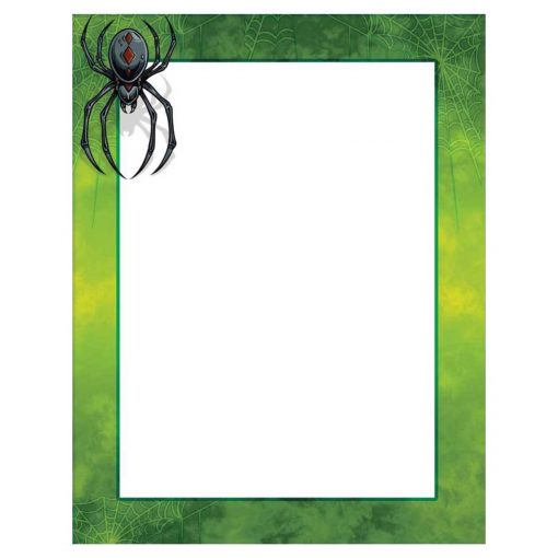 Scary Spider Halloween Paper