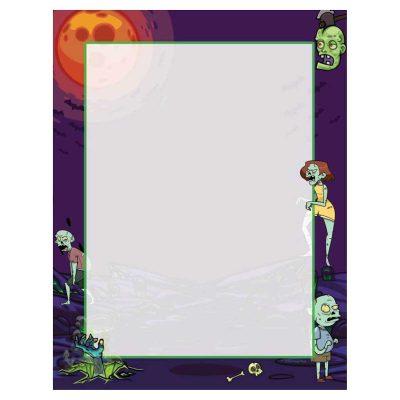 Zombies Halloween Paper