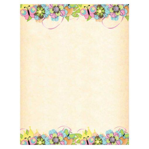 Butterflies & Buttons Flower Spring Paper