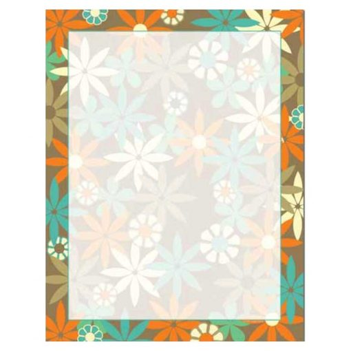 Modern Spring Daisies Floral Flowers Paper